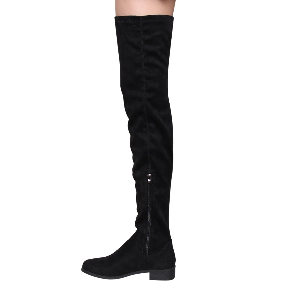 Women's Thigh High Flat Boots Stretchy