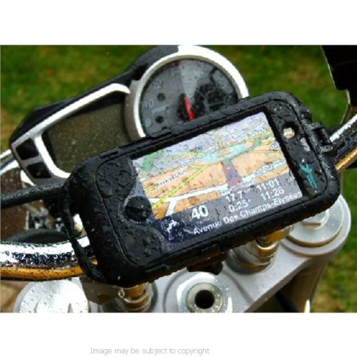 new styles 844a4 795e3 Motorcycle Bike Mount with Waterproof TOUGH CASE for the Apple iPhone 4  Smartphone