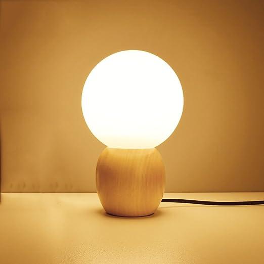 YUEDAI Mini lámpara de Mesa de luz Nocturna Dormitorio Enchufe de ...
