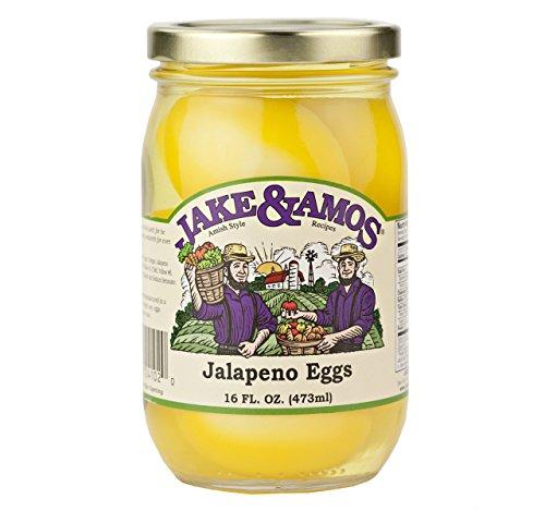 Jake & Amos Jalapeno Pickled Eggs, 16 Oz. Jar