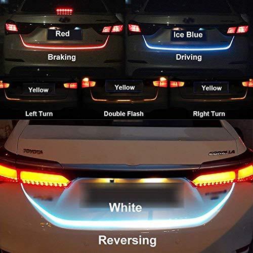EASY4BUY Streamer Brake Turn Signal Flow LED Strip Trunk Light for Universal Car Model (Triple Color)