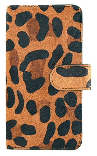 MOBILELUXE Hair Calf Wallet Phone Case for iPhone 6 & 6s - Leopard Print/Black by MOBILELUXE