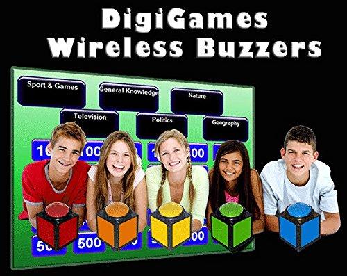 DigiGames Wireless Buzzer Quiz Buzzers for 5 Players