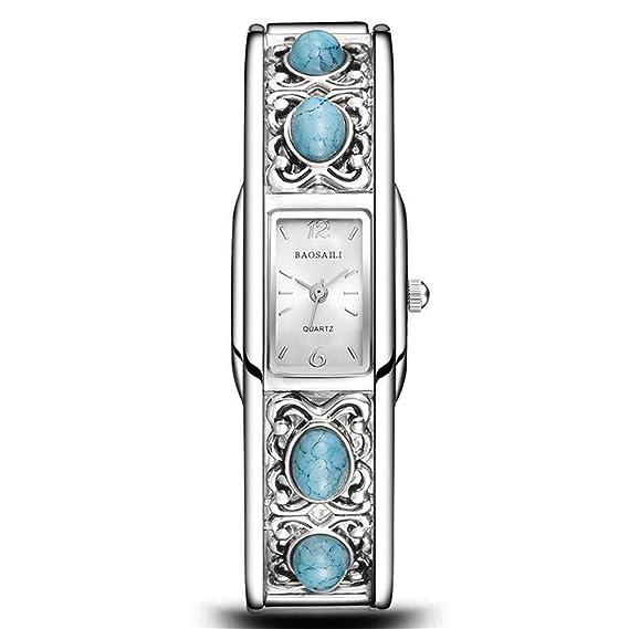 HZC Reloj de Pulsera con Brazalete for Mujer Reloj de Vestir ...