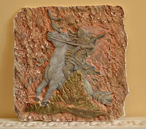 Betonex Panno Native American Indian On Horse Concrete Plaque Molds Decor Wall D19 price tips cheap