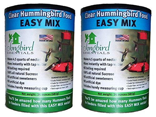 (2 Pack) Songbird Essentials SE629 Clear Hummingbird Nectar, 24 Ounce