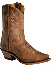 Boulet Western Boots Womens Cowboy Leather Selvaggio Wood 2617