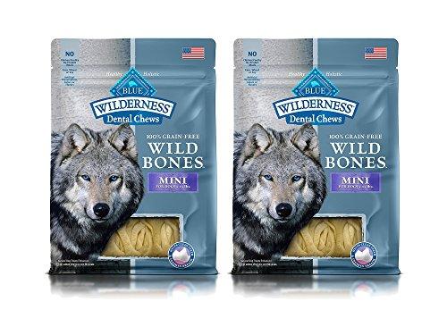 t of 2 Blue Wilderness Dental Chews Mini Size Wild Bones bundled by Maven Gifts (Super White Tearless Shampoo)