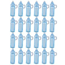 Mini Feeding Bottle Christening Baby Shower Favors Party Decor 24pcs Blue
