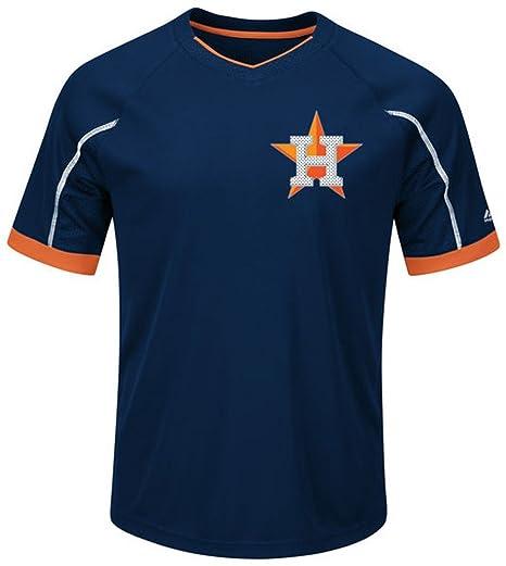 30b97d3e2 VF Houston Astros MLB Majestic Mens Cool Base Emergence Shirt Big   Tall  Sizes (6XL