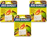 (3 Pack) Zoo Med Bird Banquet Mineral Blocks - Mealworm Formula - Small (1 Ounce Per Pack)