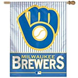 MLB Milwaukee Brewers 46994012 Vertical Flag, Small, Black