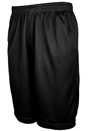 TL Men's Athletic Active Workout Running Training Mesh Shorts in Sets (S-5XL) MESH_Black ()