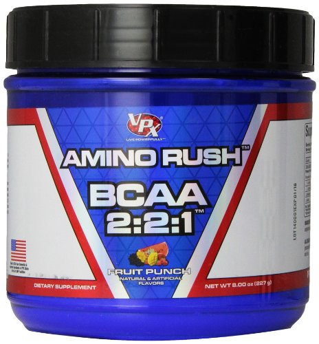 VPX Sports Amino Rush Supplement, Fruit Punch, 227 Gram