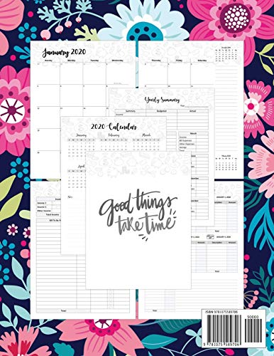Budgeting Planner 2020: 2020 Daily Weekly & Monthly Calendar Expense Tracker Organizer For Budget Planner And Financial…