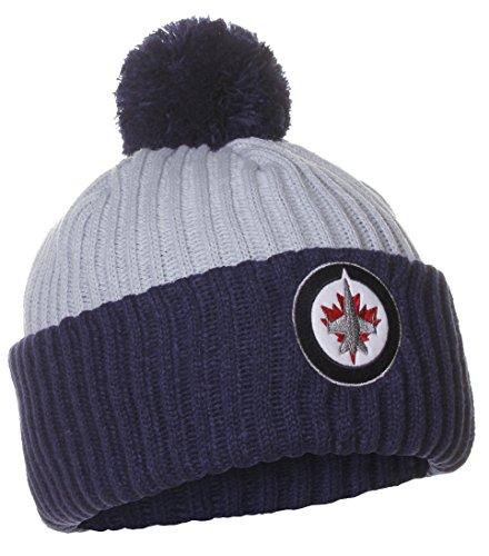 American Needle NHL Winniepeg Jets Winter Knit Cuffed Beanie Pom Pom Hat (Nhl Pompom Hats)