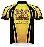 Primal Wear Fat Bastard Cycling Team Yellow Orange Black Cycling Jersey Men's Short Sleeve