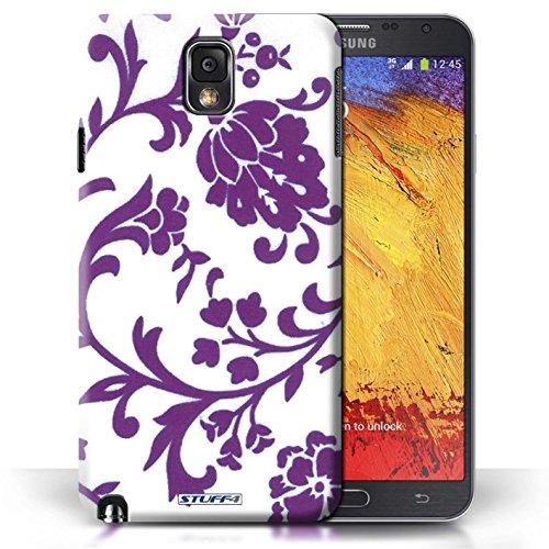 Etui / Coque pour Samsung Galaxy Note 3 / Fleurs Pourpre conception / Collection de Motif floral