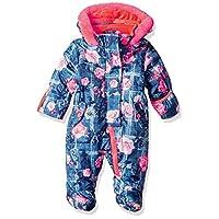 Wippette Baby Girls Floral Snowsuit Pram, Navy, 3/6M