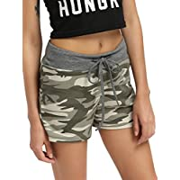 SweatyRocks Camouflage Women's Workout Yoga Hot Shorts