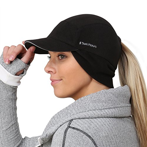 Golf Winter Cap - TrailHeads Women's Trailblazer Adventure Ponytail Cap, Black, One Size