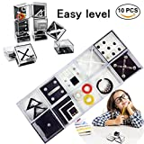 Fidget Puzzle Boxes for Kids Adults Mini Brain Teaser Decompression Game Box Challenge Your Brain and Anxiety Stress Release Safe Educational Toys Gift for Children Mind Expanding Easy Level 10 PCS