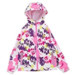 HUTUHU Latest Girls Fleece Hooded Jacket Warm Quilted Coat Outdoor Love Pattern Jacket