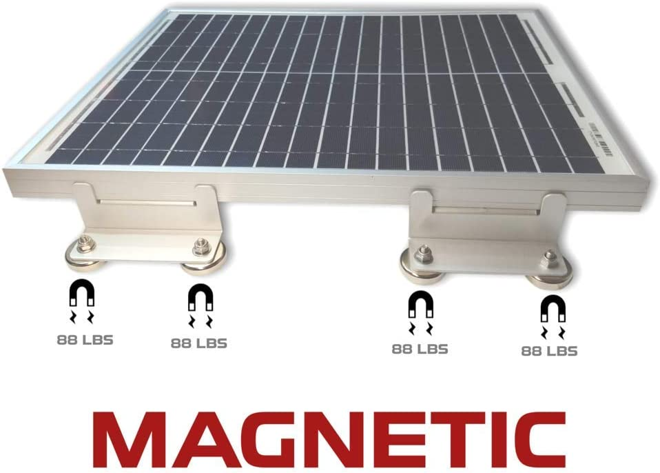 Cutting Edge Power Magnetic Solar Panel Mount Bracket, 700 lbs Holding Force Mounting Brackets (8): Garden & Outdoor