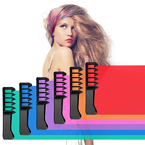 Aoert New Temporary Hair Chalk Combs Non-Toxic Washable Hair Color Comb for Hair Dye Vibrant Bright Hair Color for Girls, Party, Cosplay Aoert Chalk Set for Halloween HUA MIAN LI -