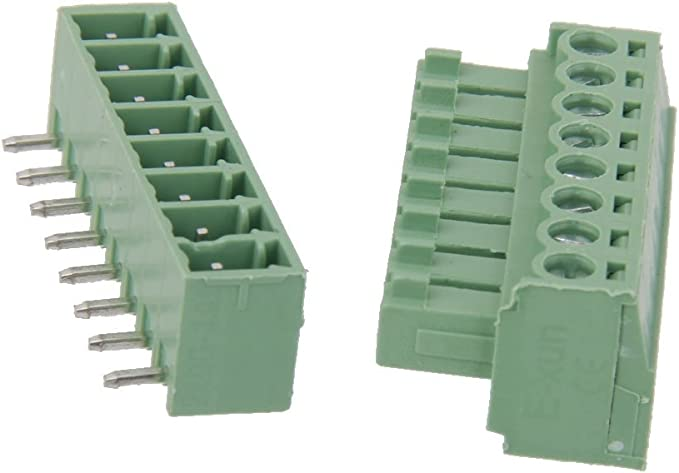 5 Series De 8 Pines Tornillo Terminal De PCB Conector Del Bloque De Montaje Dt: Amazon.es: Bricolaje y herramientas