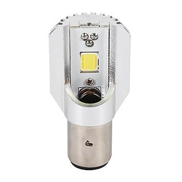 BA20D Blanca LED Faro Lámpara Lejos Y Cerca De La Señal De Luz Bombilla Para La