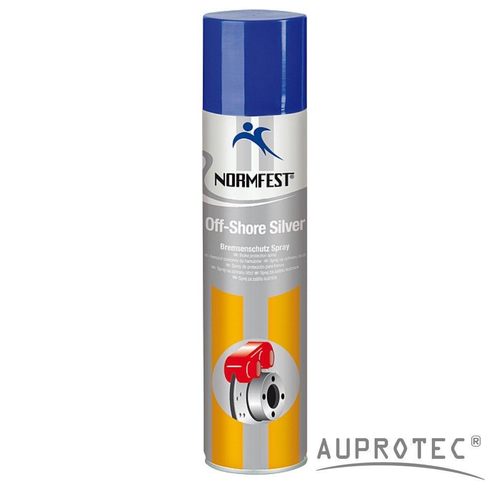 Auprotec® Normfest Bremsenschutz Spray Keramik Spray Off Shore Silver Bremsen Service Spray 400ml (1 Dose) Auprotec® Normfest Chemie