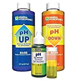 hydrogen peroxide 7 percent - 1-Set Indefectible Popular GH pH Control Hydroponics Tool Adjustment Combo Acid Alkaline Up and Down Volume 8 oz with 1 oz Indicator