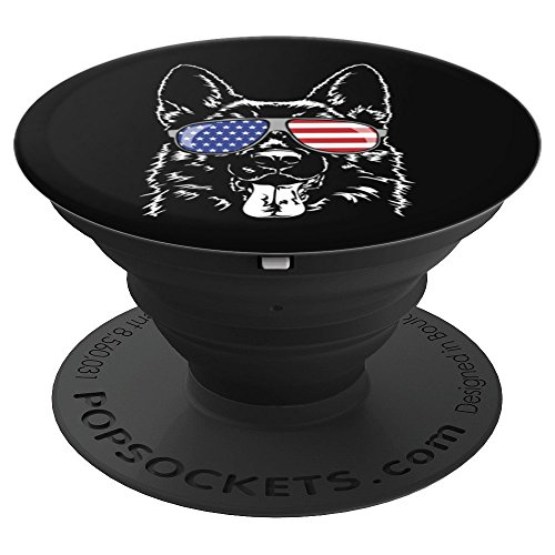 Funny Proud German Shepherd Patriotic dog breed gift - PopSockets Grip and Stand for Phones and Tablets