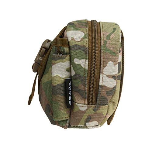 Außen Molle Taktische Tasche Gürteltasche Telefon Gürtelschlaufe Bum Hüfttasche Bag fuer Camping Outdoor Sport - Desert Camo