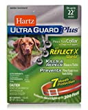 "Hartz UltraGuard Plus Reflective Orange Flea & Tick Collar for Dogs and Puppies - 22"" Neck, 7 Month Protection"