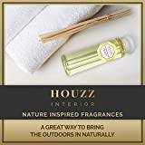 HOUZZ Interior Night Blooming Jasmine Reed Diffuser Refill Oil with Sticks, Home Scent for Living Room, Bathroom and Kitchen, Made with Essential Oils, Made in The USA