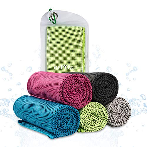 [해외]EFFOE 냉 타월 순 냉각 스포츠 아이스 타월 쿨 타월 땀과 수 분 흡수 수납 파우치 그린 / Effoe Cooling Towel Shun-cold sports ice towel cool towel with sweat and moisture absorbing storage pouch with green