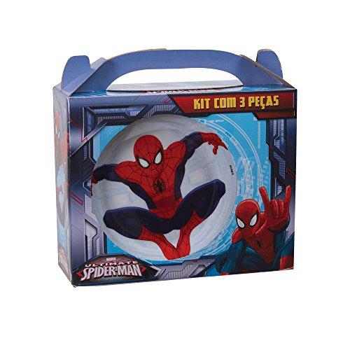 Kit 3 Pecas Marvel Spider