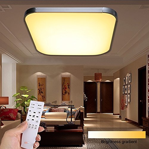 Homdox 30W New Dimmable Flush Mounted Remote Control Living Room LED ...