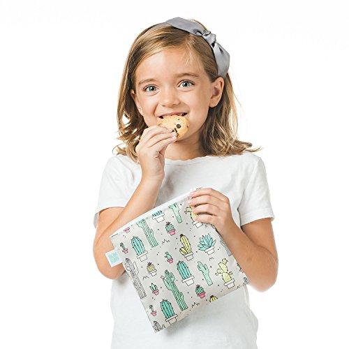 Bumkins Reusable Snack Bag Large, Cacti