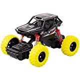Yikou Pull-Back Vehicle Off-Road Truck Friction Powered Cars Race Car Music Lights for Kids(Yellow)