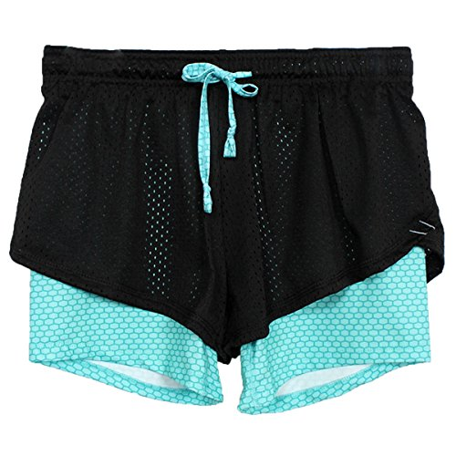 A09 Donna Abbigliamento Yoga Di Blue In Ladia Pantaloncini Traspiranti Ecyc Atletico Sportivo Da Estivi Bee Mesh L'esecuzione qfWwAwU64