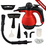 Happy New Year - Upgraded Spill-Proof Handheld Multi-PURPOSE Chemical FREE Pressurized Steam Cleaner for stain removal, curtains, crevasses with 9 FREE Accessories
