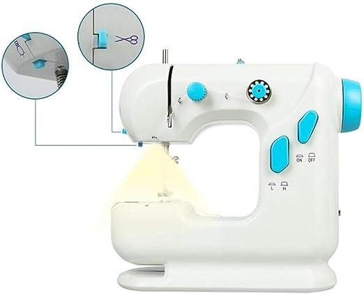 Umiwe - Mini máquina de Coser electrónica, 306 hogar, máquina de Coser de Doble Hilo y Velocidad con luz y Pedal para niños y Adultos: Amazon.es: Juguetes y juegos
