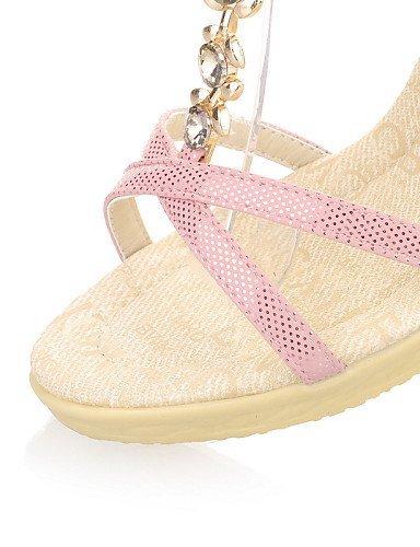 ShangYi Heels Wedges Dress Peep Outdoor Q15 Sandals Heel Silver Silver Pink Women's Platform CasualBlue Toe Shoes rf8qr1B