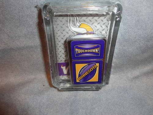 Minnesota Vikings Oil Lighter and Ashtray Gift Set