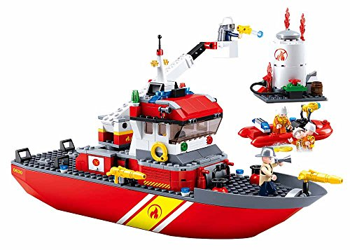 Sluban M38-B0630 Firefighting Series Blocks Boat Bricks Toy (429Piece), Fireboat + Oilcan