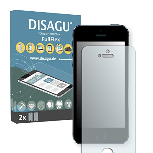 2 x Disagu FullFlex pellicola protettiva, pellicola per Apple iPhone 5s / Apple iPhone SE pellicola proteggi-schermo