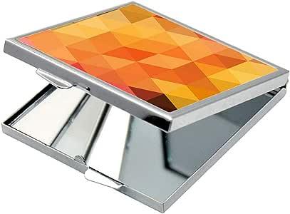 مرآة جيب، بتصميم مربعات ملونة ، شكل مربع